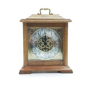 Howard Miller USA Dual Chime Wood Glass Metal Mantel Shelf Clock Quartz 630-126