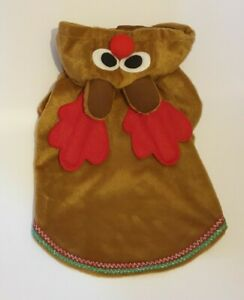"""Reindeer Dog Christmas Costume Fancy Dress Outfit Rudolph Hoodie Small 12"""" 14"""""""