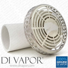 Round Chrome Whirlpool Bath Spa Suction Elbow and Outlet Vortex Cover Circular