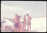 Group of Surfers at Beach Candid Photo 1972 70s Vintage 35mm Ektachrome Slide