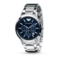 Emporio Armani Classic Stainless Steel Watch - Blue Chronograph - Men's AR2448