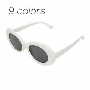 Kurt Cobain White Clout Goggles Sunglasses Rapper Oval Shades Fancy Glasses