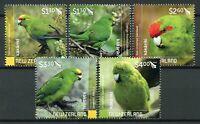 New Zealand NZ Birds on Stamps 2020 MNH Parakeets Kakariki Parrots 5v Set