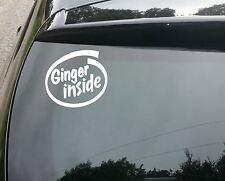 Ginger Dentro Coche Divertido/Ventana Jdm Surf VW Euro Vinilo Calcomanía Adhesivo