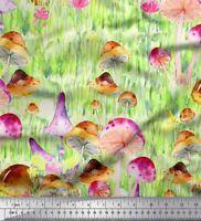 Soimoi Stoff Blätter, Blumen und Pilze Gemuse Meterware bedrucken - VG-19B