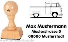 VW Bus T2 - Doka - Motiv-Holz-Stempel - mit Wunschtext