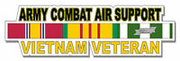 "Army Combat Air Support Vietnam Veteran 5.5"" Sticker 'Officially Licensed'"