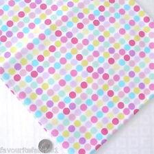 DOT TO TOPOS - ROSA AZUL - MULTI COLORES PUNTOS tela de algodón por metro FUNKY