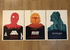 ⭐ RARISSIMO ⭐ Star Wars Trilogia A3 MONDO POSTER RACCOLTA STAMPE OLLY Moss