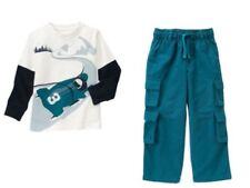 Gymboree Snow Days Ivory Snowmobile Tee Shirt Top Cargo Pants Set Boys 5 NEW NWT
