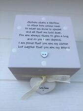 Shabby Personalised Chic Gift Special Best Sister Trinket Box Birthday Present