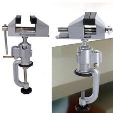 "3"" Jaw Universal Table Vise Work Bench Clamp 360° Swivel Rotating Repair Tool US"
