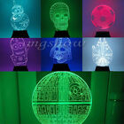 7 Color Change 3D illusion Star Wars Touch Switch Table Lamp LED Night Light