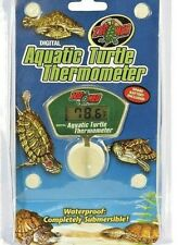 Zoo Med Aquatic Pet Turtle Digital Thermometer - Waterproof Temperature Gauge