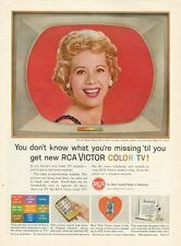 New listing 1961 Rca Victor Color Television Tv Original Advertisment The Dinah Shore Show