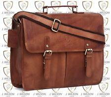 Mens Designer Leather Laptop Bag Ladies Shoulder Cross Body Work Messenger Case