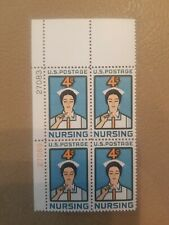 US Mint Stamps Plate Blocks #1190 ~1961 NURSING 4 cents Plate Block MNH OG