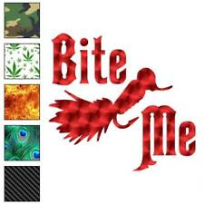 Bite Me Fishing Lure Decal Sticker Choose Pattern + Size #114
