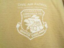 CIVIL AIR PATROL tan graphic semper vigilans L t shirt