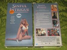 "SINFUL INTRIGUE VHS VIDEO ""R"" RATED  RARE MOVIE NOT ON DVD!"