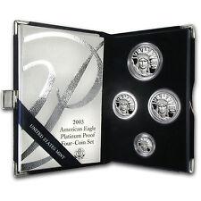 2003-W 4-Coin Proof Platinum American Eagle Set (w/Box & COA) - SKU #8582