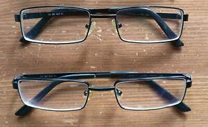 2 Stück Brille Fielmann Brillengestell Metall schwarz