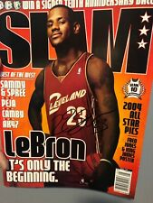 Lebron James Autographed  Rookie Slam Magazine With Coa