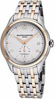 Baume Mercier Men's Clifton Stainless Steel/Rose Gold Automatic Watch MOA10140