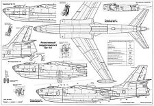 PLS-72019 1/72 Beriev Be-10 Full Size Scale Plans (two A2 format pages)