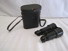 WWI Vintage Military Chevalier Army & Navy Day Night Leather Binoculars w Case
