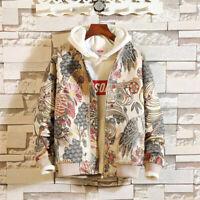 Japanese Embroidery Mens Jacket Coat Boys Hip Hop Streetwear Bomber Jacket 2019