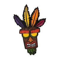Crash bandicoot Aku Aku enamel pin