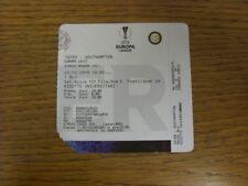 20/10/2016 Ticket: Inter Milan v Southampton [Europa League] (slight corner loss