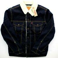 Levi's Trucker Jean Jacket Sherpa Fleece Lined Levi Strauss, Raw Power $98