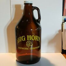 Big Horn Brewing Co. Glass Beer Growler 64oz Bottle With Lid