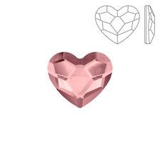 Swarovski Crystal Hotfix 2808 Heart Flatback Antique Pink 14mm Pack of 1 (K73/5)