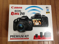 NEW Canon EOS Rebel T6 Digital DSLR Camera+EF-S 18-55mm+EF 75-300m Lens+Bundle