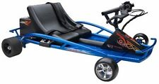 Electric Go Cart 24V Ride On Go-Kart Drifter Racing Car Steel Frame Razor Blue