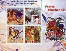 Guinea-Bissau Cultures Stamps 2008 MNH National Festivals Carnival Bulls 4v M/S