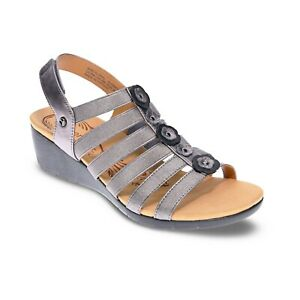 Revere Women's Bari Floral Wedge Supportive Arch Support Sandal - Size 7 Medium