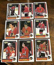 1986-87 O-Pee-Chee  CHICAGO BLACK HAWKS 16 card team  lot