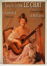 CPM REPRODUCTION AFFICHE ANCIENNE / SAVON LE CHAT / VERS 1900