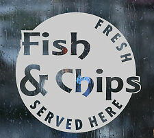 ETCHED WINDOW FILM SHOP STICKER FISH & CHIPS FROSTED EFFECT BUBBLE FREE GRAPHIC