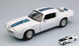 Pontiac firebird trans am 1972 white w/blue stripe 1:24-27 auto stradali scala