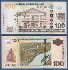 SURINAM / SURINAME 100 Dollar 2012 UNC P.166