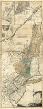Map of The provinces of New York and New Jersey c1776 repro 15x36