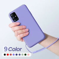 Liquid Silicone Hand Lanyard Case Cover For Samsung Galaxy S20 A51 A71 A40 A20