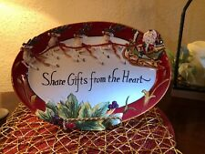 Fitz & Floyd Regal Holiday Shared Gifts From The Heart Platter,Brand New In Box