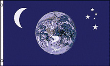 EARTH MOON & STARS FLAG 3X5 FEET PLANET WORLD ASTRONOMY UNIVERSE NEW F432