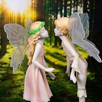 Fairy Garden Accessories Outdoor - Miniature Kissing Statue Kit Garden Fairies